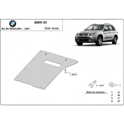BMW X5, E70, F15, 2007-2020 - Acél Váltóvédő lemez