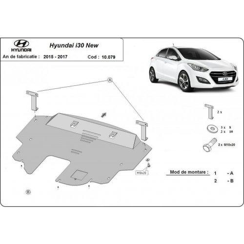 Hyundai i30 new, 2015-2016 - Acél Motorvédő lemez