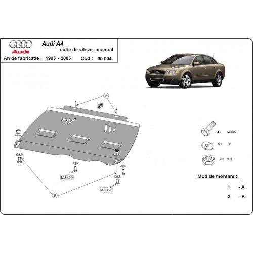 Audi A4, 2000-2005 - Acél MANUÁL váltóvédő lemez