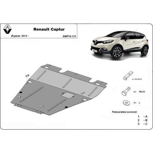 Renault Captur, 2013-2020 - Acél Motorvédő lemez