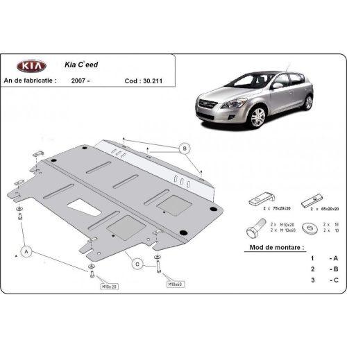 Kia Ceed, 2007-2011 - Acél Motorvédő lemez