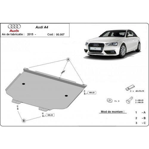 Audi A4, 2015-2018 - Acél Váltóvédő lemez