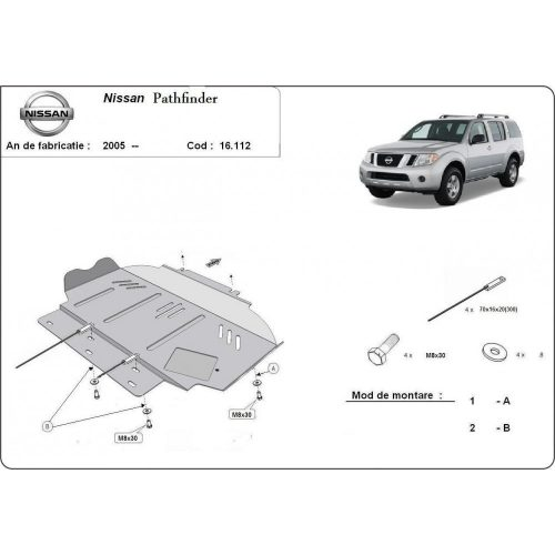 Nissan Pathfinder, 2005-2015 - Motorvédő lemez