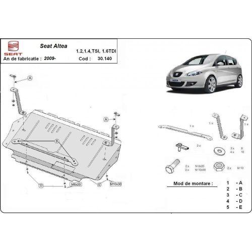 Seat Altea, 2010-2020 - Motorvédő lemez