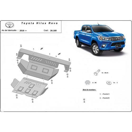 Toyota Hilux Revo, 2016-2020 - Acél Motor- Acél és hűtővédő lemez