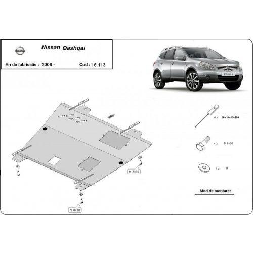 Nissan Qashqai, 2006-2013 - Acél Motorvédő lemez