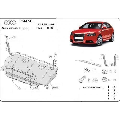 Audi A3, 2008-2012 - Motorvédő lemez