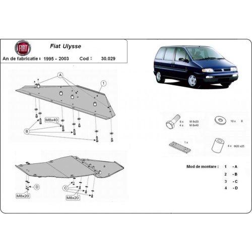 Fiat Ulysse, 1995-2003 - Acél Motorvédő lemez