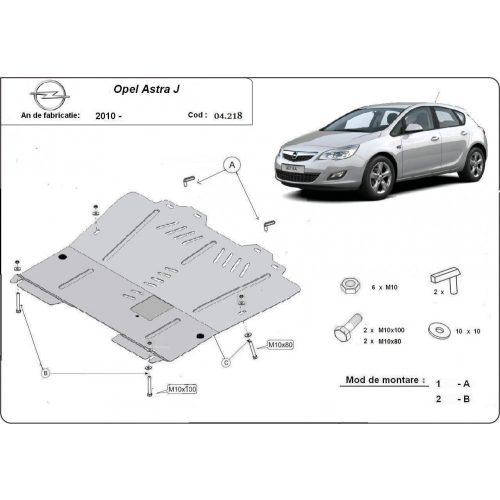 Opel Astra J, 2009-2015 - Acél Motorvédő lemez