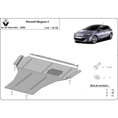 Renault Megane, 2008-2017 - Motorvédő lemez