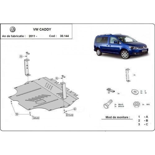 VW Caddy, 2011-2020 - Motorvédő lemez