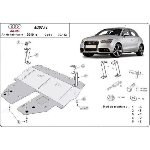 Audi A1, 2010-2020 - Acél Motorvédő lemez
