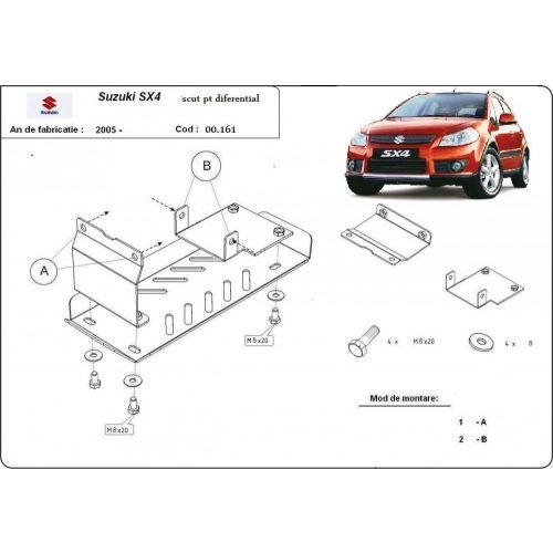 Suzuki SX4, 4X4, 2006-2013 - Differenciálmű védő lemez