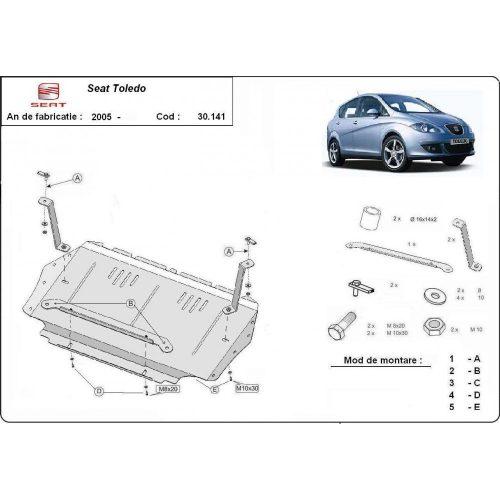 Seat Toledo, 2005-2012 - Motorvédő lemez