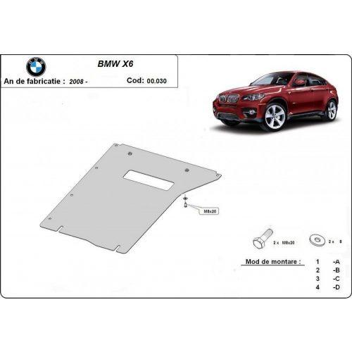 BMW X6, E71, E72, 2008-2014 - Acél Váltóvédő lemez