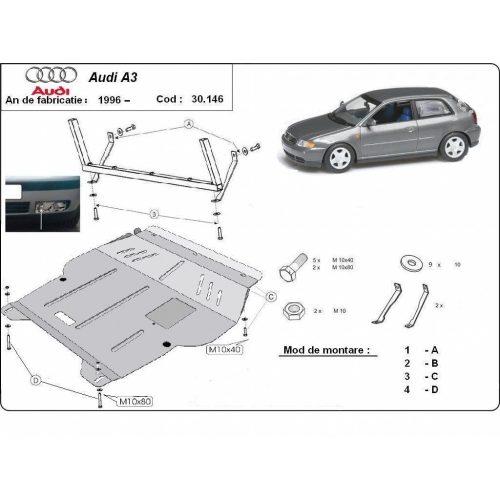Audi A3, 1996-2003 - Motorvédő lemez