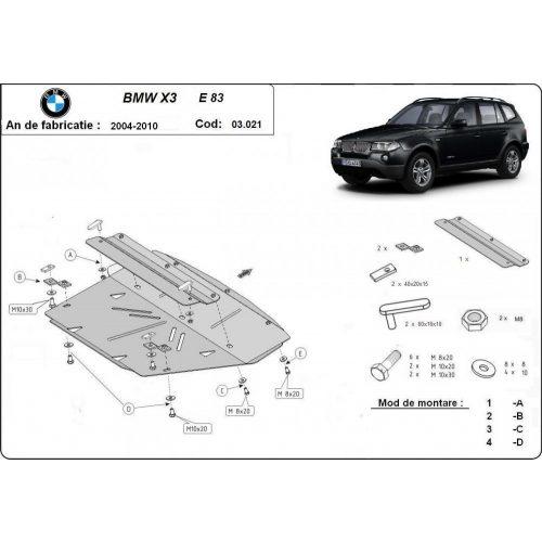 BMW X3, E83, 2003-2010 - Motorvédő lemez