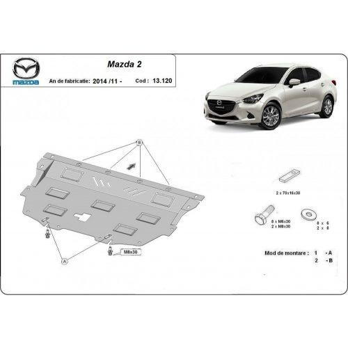 Mazda 2, 2014-2017 - Motorvédő lemez