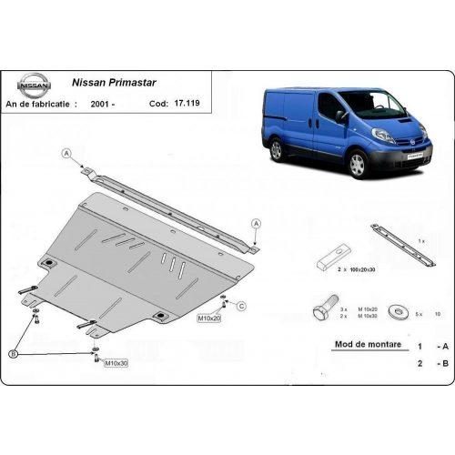 Nissan Primastar, 2001-2020 - Acél Motorvédő lemez