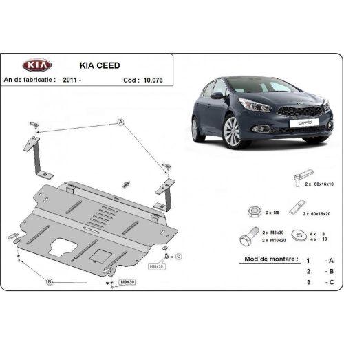 Kia Ceed, 2012-2018 - Motorvédő lemez