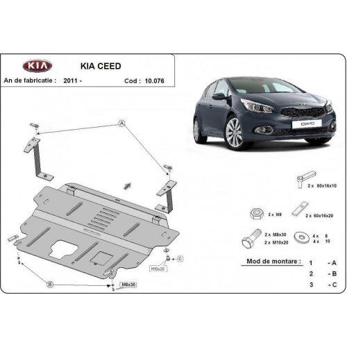 Kia Ceed, 2012-2018 - Acél Motorvédő lemez