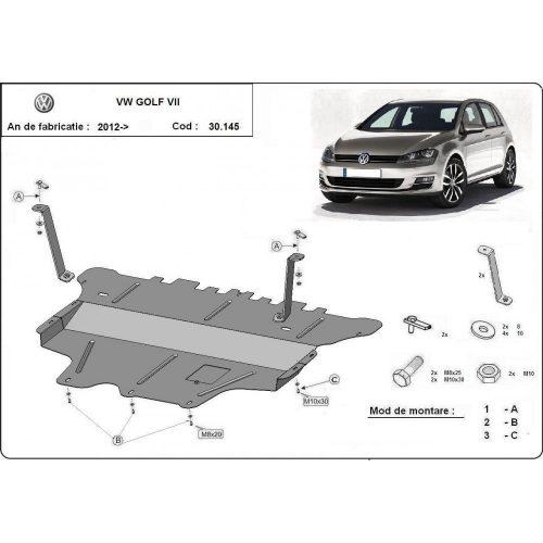 VW Golf 7, 2012-2020 - Motorvédő lemez