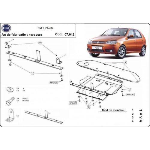 Fiat Palio, 1996-2003 - Acél Motorvédő lemez