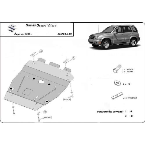 Suzuki Grand Vitara, 2005-2020 - Acél Motorvédő lemez