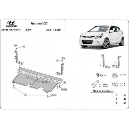 Hyundai i 20, 2009-2014 - Acél Motorvédő lemez