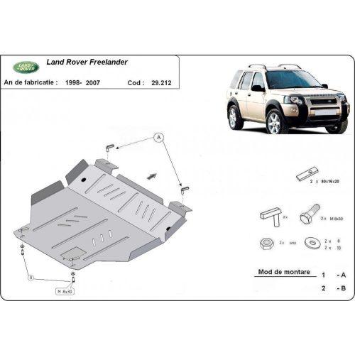 Land Rover Freelander, 1998-2007 - Acél Motorvédő lemez