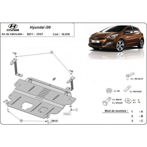 Hyundai i30, 2011-2014 - Acél Motorvédő lemez