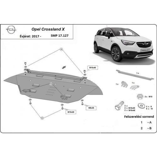 Opel Crossland X, 2017-2020 - Acél Motorvédő lemez