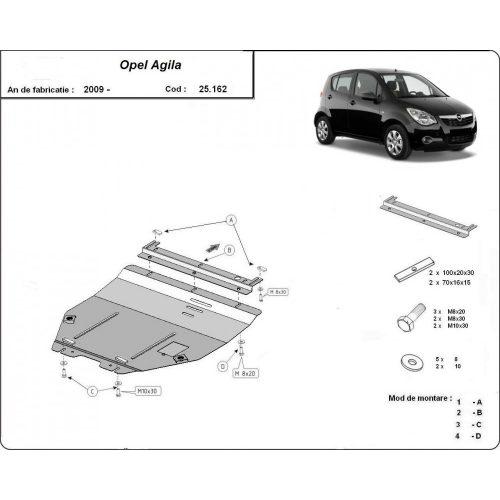 Opel Agila, 2008-2020 - Motorvédő lemez