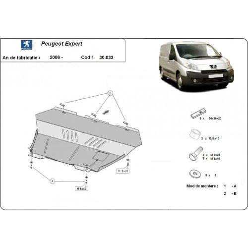 Peugeot Expert, 2006-2016 - Acél Motorvédő lemez