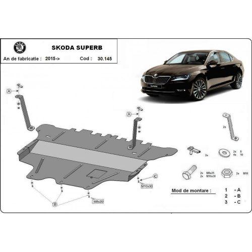 Skoda Superb, 2015-2018 - Acél Motorvédő lemez