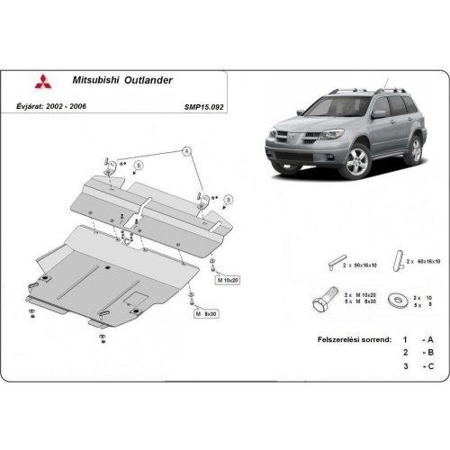 Mitsubishi Outlander, 2002-2006 - Acél Motorvédő lemez