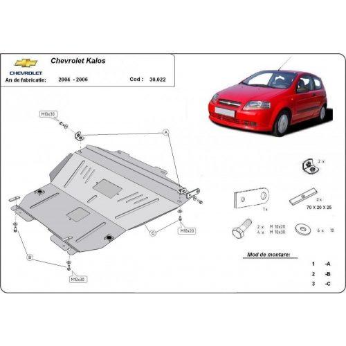 Chevrolet Kalos, 2004-2008 - Acél Motorvédő lemez