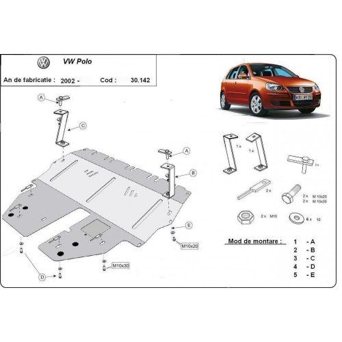 VW Polo II, 2003-2009 - Acél Motorvédő lemez