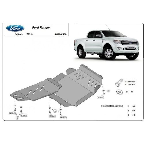 Ford Ranger, 2011-2020 - Motorvédő lemez