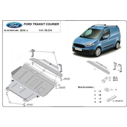 Ford Transit Courier, 2014-2021 - Acél Motorvédő lemez
