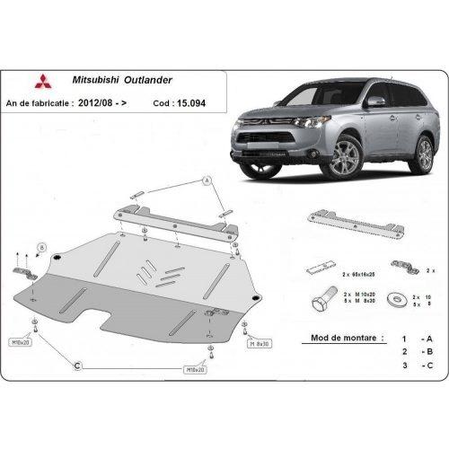 Mitsubishi Outlander 2012-2020 - Acél Motorvédő lemez
