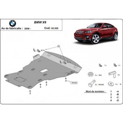 BMW X6, E70-E72, 2008-2018 - Motorvédő lemez