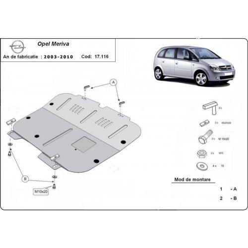 Opel Meriva, 2003-2010 - Motorvédő lemez