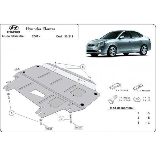 Hyundai Elantra, 2007-2011 - Motorvédő lemez