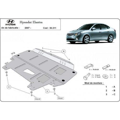 Hyundai Elantra, 2007-2011 - Acél Motorvédő lemez