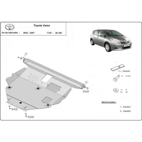 Toyota Corolla Verso, 2002-2008 - Motorvédő lemez