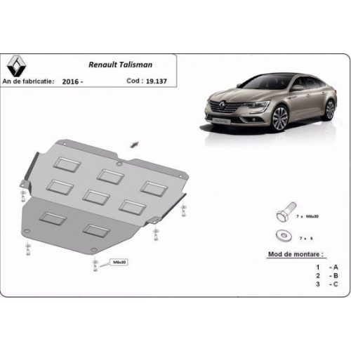 Renault Talisman, 2016-2020 - Acél Motorvédő lemez
