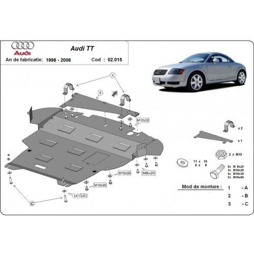 Audi TT, 1998-2006 - Motor- , váltóvédő lemez