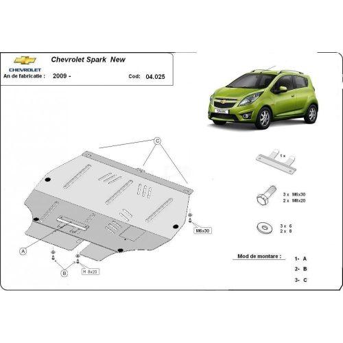 Chevrolet Spark New, 2009-2020 - Motorvédő lemez