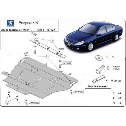 Peugeot 607, 2001-2020 - Acél Motorvédő lemez